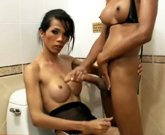She Max – Sexy ladyboys in lingerie touch each other